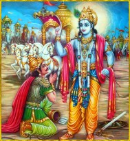 More than 5000 years ago Bhagavaan Krishna spoke Bhagavad Gita again at the battlefield Kurukshetra in Hindustan.